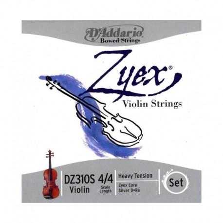 escala 4//4 tensi/ón dura. Juego de cuerdas para viol/ín Zyex de DAddario con Re de aluminio